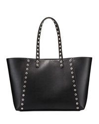 French Connection Ansley Smooth Grommet Tote Bag Black