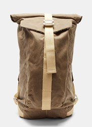 Bedouin Ottoman Roll Top Backpack Khaki