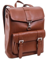 Mcklein Hagen Leather Laptop Backpack Brown