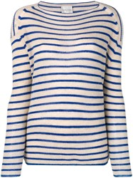 Forte Forte Striped Sweater Blue