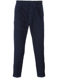 Pt01 Cropped Trousers Blue