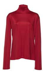 Martin Grant Fitted Turtleneck Red