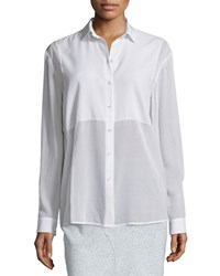 Atm Anthony Thomas Melillo Square Bib Boyfriend Shirt White Women's