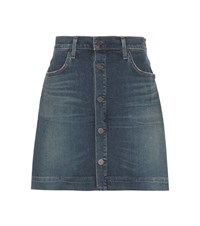 Citizens Of Humanity Aurora B F Denim Mini Skirt Blue