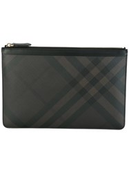 Burberry Zipped Clutch Brown