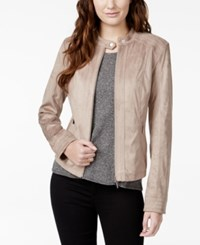 American Rag Zipper Front Faux Suede Jacket Only At Macy's