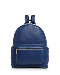Aqua Leather Backpack 100 Exclusive Navy Silver