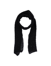 Grey Daniele Alessandrini Oblong Scarves Black