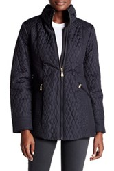 Ellen Tracy Quilted Mock Neck Jacket Black