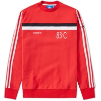 Adidas 83 C Crew Sweat Red