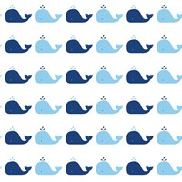 Tempaper Whale Removable Wallpaper Sample Swatch Blue Sample