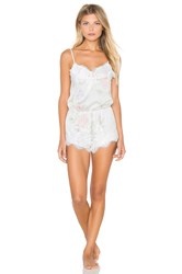 Homebodii Sophia Lace Romper White