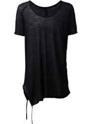 Forme D'expression Raw Edge T Shirt Black