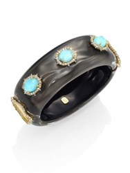 Alexis Bittar Large Lucite And Crystal Liquid Silk Bangle Ash