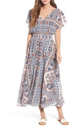 Kas 'S New York Serta Button Up Maxi Dress Ikat Print