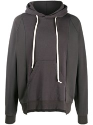 The Viridi Anne Long Sleeve Drawstring Hoodie Grey