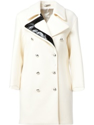 Bouchra Jarrar Double Breasted Coat White