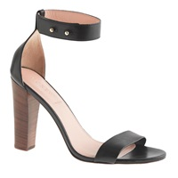 J.Crew Lanie Stacked Heel Sandals Black