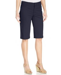 Jm Collection Twill Bermuda Shorts Only At Macy's Intrepid Blue