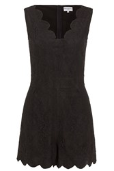 Wolf And Whistle Black Lace Playsuit