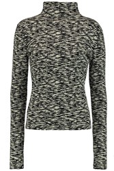 Giambattista Valli Intarsia Turtleneck Sweater Black