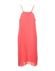 Molly Bracken Knee Length Dresses Coral