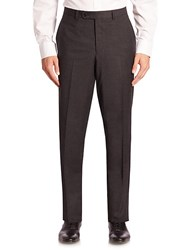 Jack Victor Collection Checked Wool Trousers Mid Grey