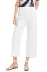 J.Crew Women's Heavy Linen Sailor Pants White