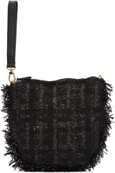 Simone Rocha Black Tweed Clutch