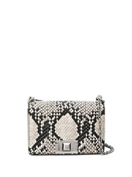 Furla Mimi Snake Effect Shoulder Bag Black