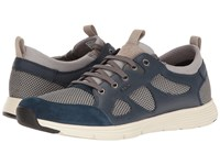 Geox M Snapish 1 Rock Dark Royal Men's Lace Up Casual Shoes Gray