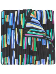 Issey Miyake Pleats Please Hopscotch Print Pleated Scarf 60