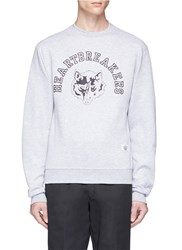 Bedwin And The Heartbreakers 'Lou' Wolf Print Sweatshirt Grey