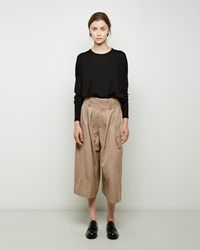 J.W.Anderson Windowpane Pleat Front Culotte Camel