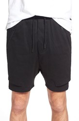 Men's Thing Thing 'The.Com' Layered Shorts Black