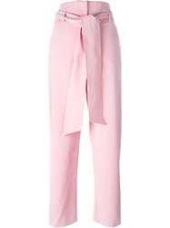 Emanuel Ungaro Belted Trousers Pink And Purple