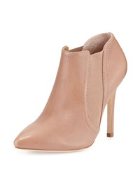 Wendy Leather Pointed Toe Bootie Camel Halston Heritage