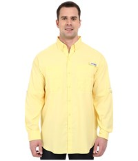 Columbia Tamiami Ii L S Tall Sunlit Men's Long Sleeve Button Up Yellow