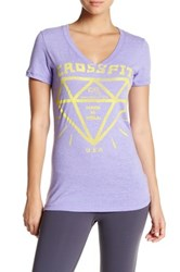 Reebok Short Sleeve Graphic Tee Purple