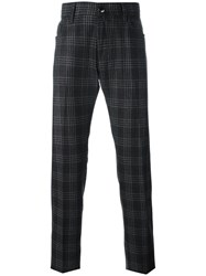 Jacob Cohen Checked Tailored Trousers Brown