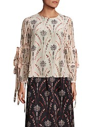 Creatures Of The Wind Tav Floral Printed Blouse Blush Multi