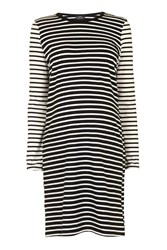 Topshop Maternity Stripe Tunic Navy Blue