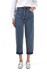 Topshop Women's Boutique High Rise Crop Boyfriend Jeans