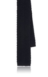 Ralph Lauren Black Label Men's Seed Stitched Necktie Navy