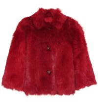 Red Valentino Reversible Fur Jacket Red