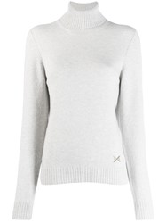 Barrie Turtleneck Cashmere Pullover Grey