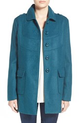 Junior Women's Frenchi Babydoll Coat Teal Cyrus