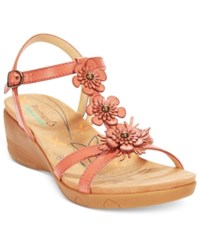 Bare Traps Hammond Wedge Sandals Women's Shoes Red Rose