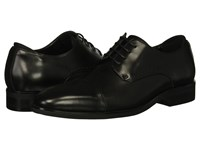 Kenneth Cole Reaction Travis Lace Up Black Leather Lace Up Cap Toe Shoes