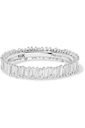 Suzanne Kalan 18 Karat White Gold Diamond Ring 7